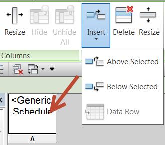 Creating a Generic Blank Schedule in Revit 2014 | Jarod Schultz