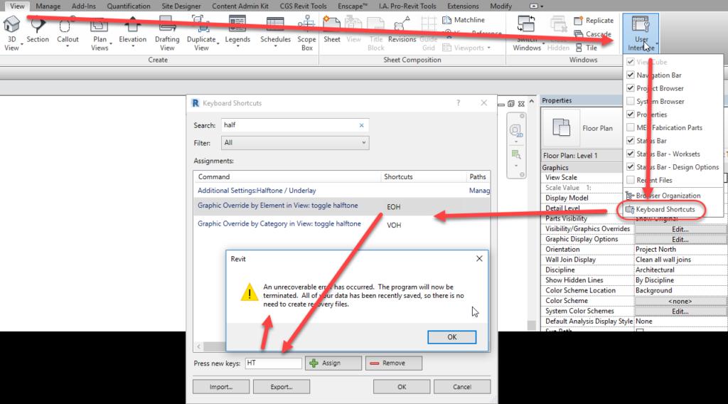 revit-keyboard-shortcut-issue